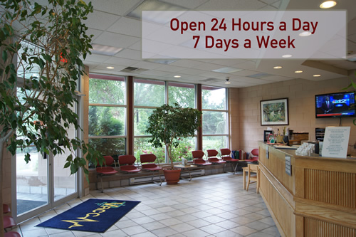 VRCC Front Lobby-Open 24 hours a day 7 days a week
